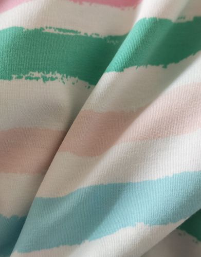 "Bio Single Jersey ""Stripes 4,mint """